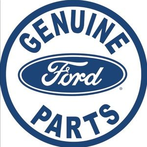 Geniune Ford Parts Round Tin Sign